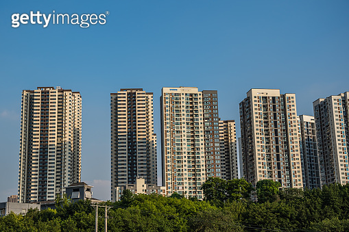 High residential blocks of flats in Chongqing city