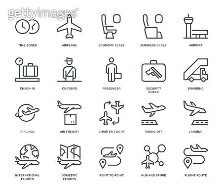 Air Travel Icons.