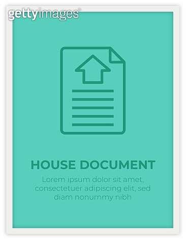 HOUSE DOCUMENT SINGLE ICON POSTER DESIGN