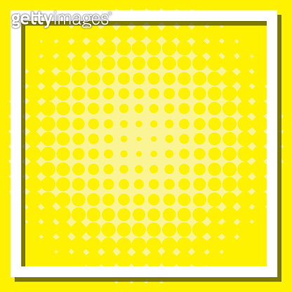 Frame template design with yellow background