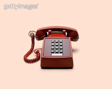 Retro Red Push Button Telephone