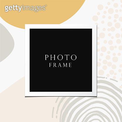 Photo frame vector.
