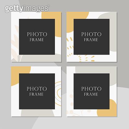 Beautiful vector photo frame.