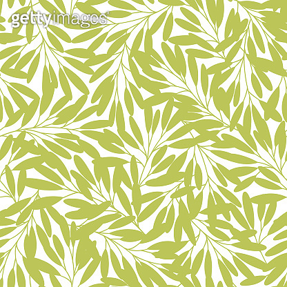 Seamless pattern of a leaf designed simply,