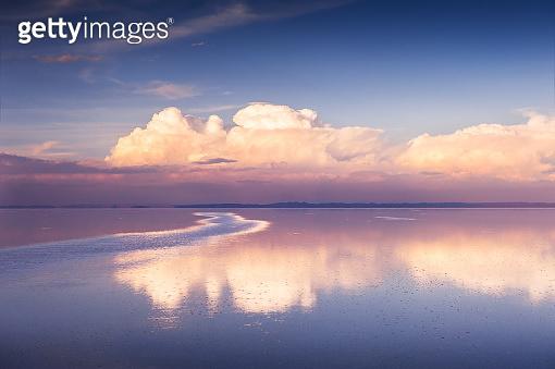Salar de Uyuni salt flat in Bolivia.