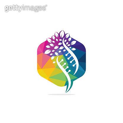 Dna tree vector logo design.