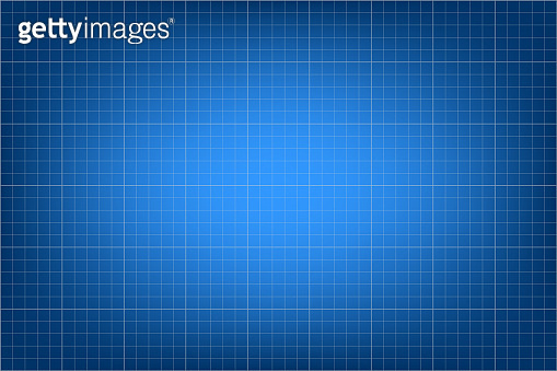 Abstract dark blue reflection and and white mesh pixels. Grid lines on a screen for measuring oscilloscope traces. Dark colors squares background pattern for design. Paper blueprint backdrop. - vector