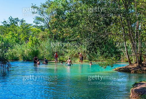 Swimming in Agua Azul, Chiapas, Mexico