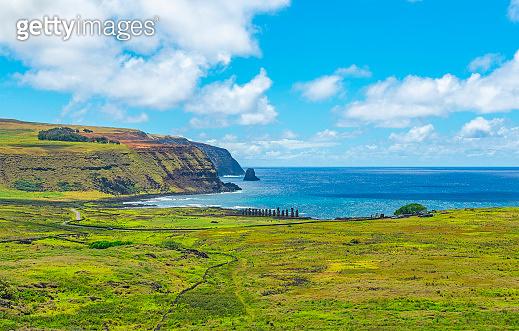 Ahu Tongariki, Easter Island, Chile
