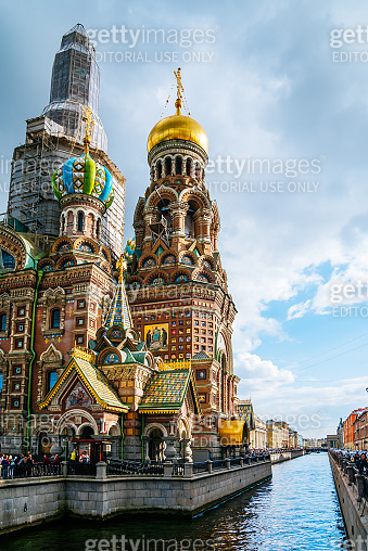 The Church of the Savior on Spilled Blood in St.Petersburg.