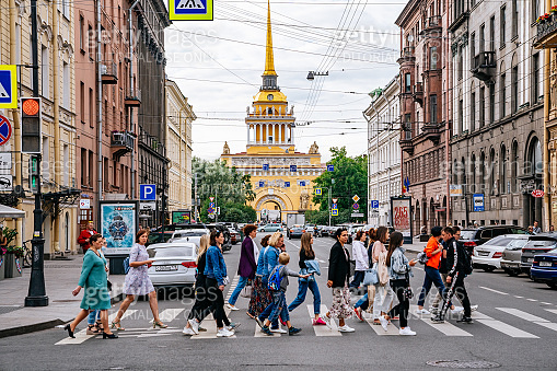 St. Petersburg - Gorokhovaya street in the central historical district of Admiralteisky.