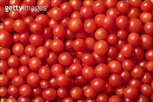 Red Tomberry tomatoes close up
