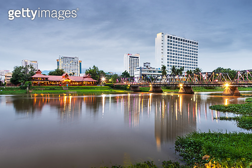 Chiang Mai, Thailand Skyline on the Ping River