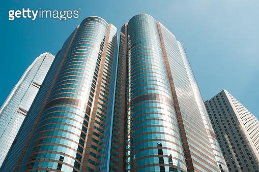 modern architecture, skyscraper office building facade