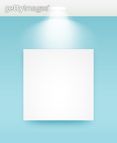 Picture frame with light vector illustrations.