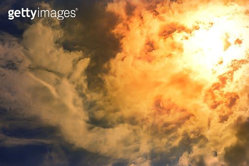 Heatwave hot sun. Climate Change.