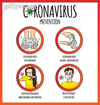 Hand drawn doodle Coronavirus molecule vector icon