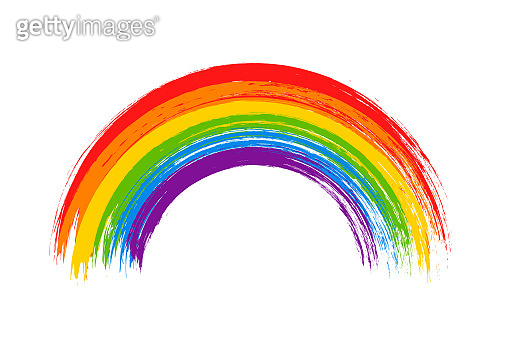 LGBT flag. LGBT pride flag of gay and lesbian, besexual and transgender. Human rights, sex orientation and tolerance concept. Rainbow symbol