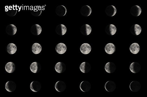 Phases of the Moon.Lunar cycle.