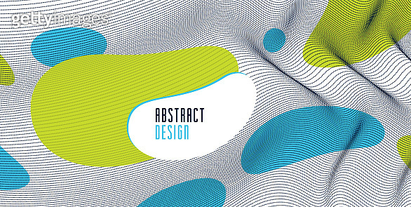 Trendy abstract vector background, science and technology theme illustration, array of dynamic particles, template for covers banners and ads.