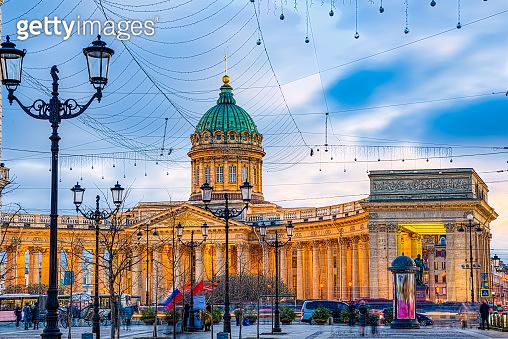 Kazan Temple - greatest architectural creation. Saint Petersburg.