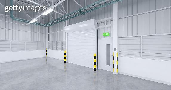 warehouse and shutter door