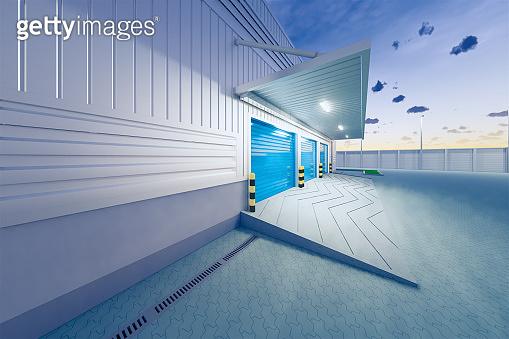 3d rendering warehouse building