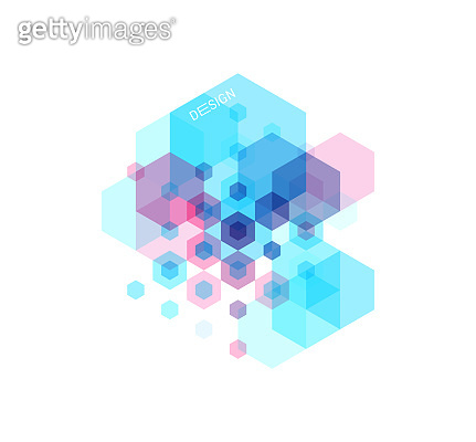 Abstract geometric background with transparent colored figures. Template for poster, flyer, banner or book cover. Vector illustration for design