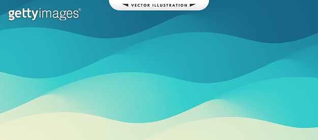 Water surface. Blue abstract background. Vector illustration for design.