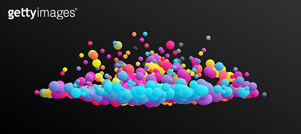 Cloud. Floating liquid blobs. Abstract banner with fluid shapes. 3D vector illustration for advertising, marketing or presentation.