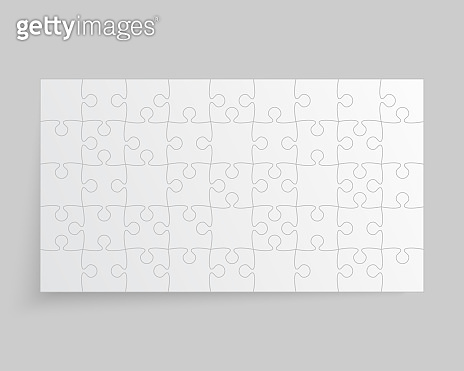 Vector background white piece puzzle frame jigsaw