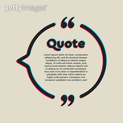 Vector template a creative quote bracket circle