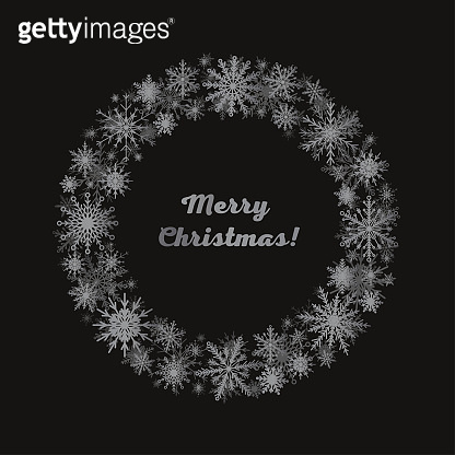 Vector frame for Christmas, New Year, snowflakes