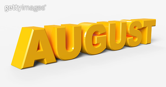 August sign.