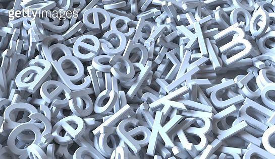 Abstract text background 3d letter