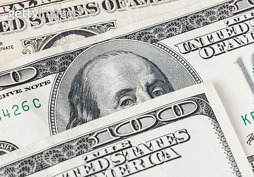 US Dollar banknotes, full frame