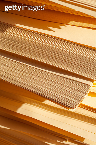 Yellow paper stack