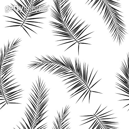 Seamless pattern with palm branches
