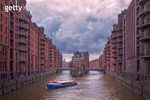 Rain clouds over Speicherstadt, Hamburg