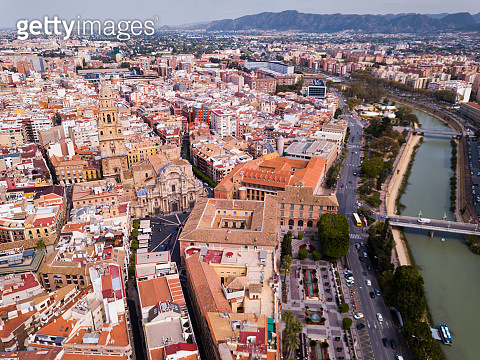 Aerial view of Murcia cityscape