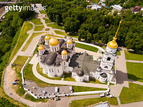 Aerial view of Dormition Cathedral in Vladimir