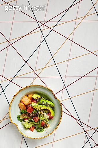 Luxury restaurant side dish top view