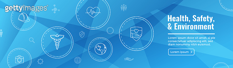 Health Safety and Environment Icon Set - Web Header Banner