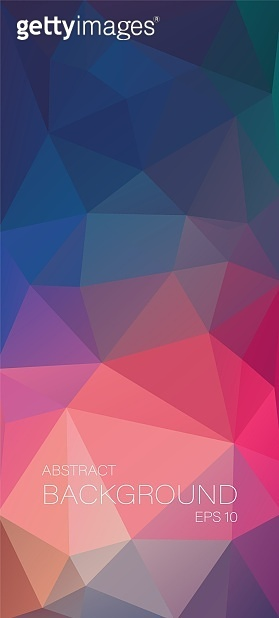Vertical vector background. Abstract illustration with an grange triangles