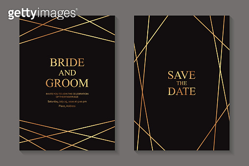 Modern geometric luxury wedding invitation design or card templates for business or presentation or greeting.