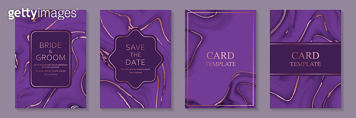 Set of modern abstract luxury wedding invitation design or card templates for business or presentation or greeting.