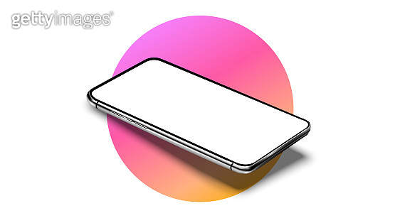 Realistic smartphone mockup set. Mobile phone blank, white, transparent screen design. Modern digital device template. Smartphone perspective view. Template for infographics or presentation UI design