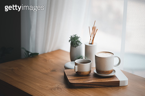 cup of hot coffee and tea