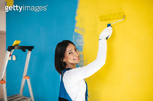 Home renovation and wall painting
