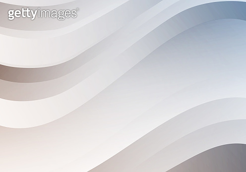 Abstract White Background with Waves. Vector Minimal Banner. Pearl Colored Sleek Texture